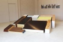 Séverine Hubard. Benoît Grimbert. Vue de l'exposition. Dedans-Dehors. Collection FRAC Normandie Caen. Le Pavillon, Caen. 2017. © David Michael Clarke.