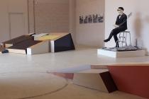 Séverine Hubard. Olivier Blanckart. Benoît Grimbert. Vue de l'exposition. Dedans-Dehors. Collection FRAC Normandie Caen. Le Pavillon, Caen. 2017. © David Michael Clarke.