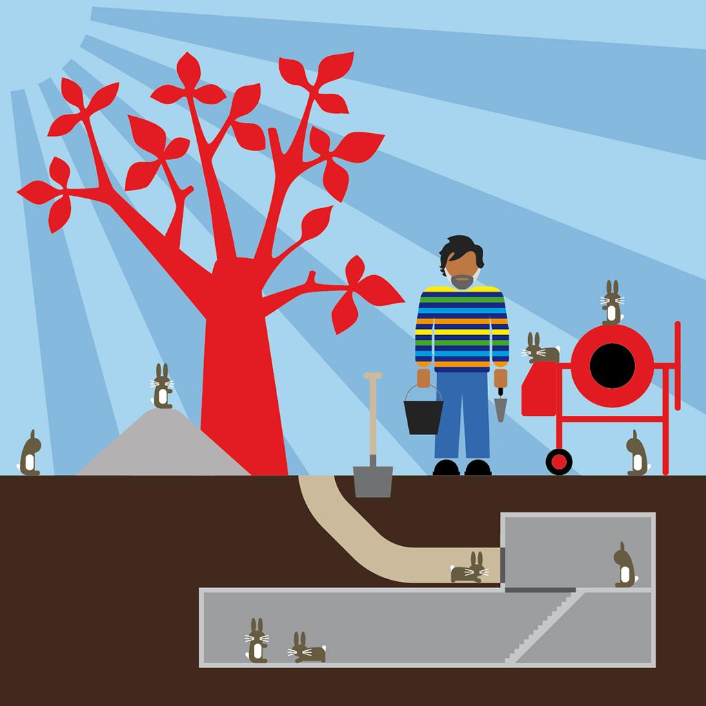 Subterranean Duplex Solution. David Michael Clarke. Residence AFIAC / APAJH 81 La Planésié, Castres. De septembre 2015 au janvier 2016.
