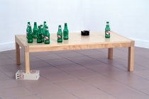 Life After John. 2002. Sculpture. Table, livre & objets divers . 50 x 70 x 120 cm. 2002. © ADAGP, Paris / David Michael Clarke.