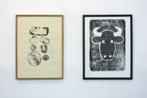 Olivier Magnier, David Michael Clarke. Multiples #05. Exposition collective. Galerie RDV, Nantes. 2014. Photo : Léa Cotart-Blanco.