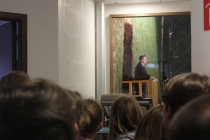 Une Ramette dans le coin des photocopieuses. Exposition, Placard-Placard. Dans le cadre d'une résidence artistique organisé par le Frac Normandie Caen au Collège Sainte Thérèse à Saint-Pierre-en-Auge. 2017.
