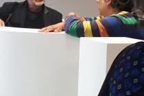 Vernissage de l'exposition 'Solarium'. David Michael Clarke et les habitants de Vitré Communauté. Médiathèque Madame de Sévigné, Vitré. 2019. © ADAGP Paris 2019 / David Michael Clarke.
