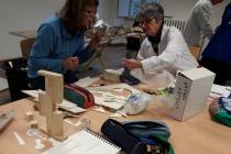 Atelier de l'école d'arts plastique, Le Kiosque, Mayenne. © David Michael Clarke ADAGP.