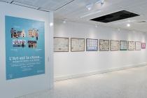 NCDGQAD Gilles Mahé & Jean-Philippe Lemée. Exhibition: Vide Poches. Médiathèque de Château-Gontier. 2015. Photo: David Michael Clarke.