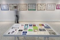 Front: Roberto Martinez. Back: NCDGQAD Gilles Mahé & Jean-Philippe Lemée. Exhibition: Vide Poches. Médiathèque de Château-Gontier. 2015. Photo: David Michael Clarke.